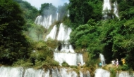 Niesamowity wodospad Thi LoSu